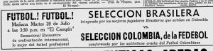 """La """"auténtica"""" selección jugaba en Bogotá..."""