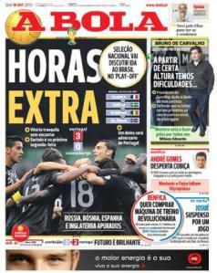 """""""Hacer horas extras"""" es lo que le queda a Portugal para ir al Mundial."""