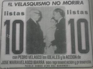 Velasco tío, Velasco sobrino y una declaración que no pasó de las buenas intenciones.