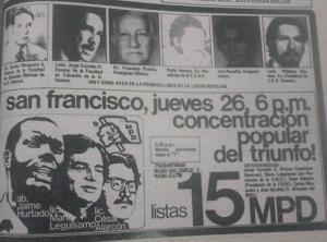 El MPD (el comunismo maoista) y su debut electoral.