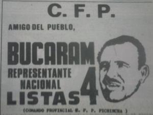 Asad Bucaram era el peso pesado cefepista. Al no poder ser candidato a la presidencia, optó al Congreso.