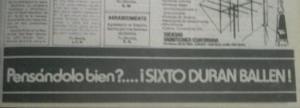 El slogan de campaña de Sixto Durán Ballén