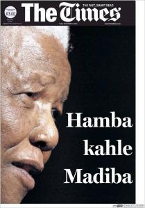 El mayor diario sudafricana, de habla inglesa, con un título en zulu. Me parece que es un  inèdito gesto.