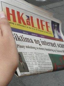 Uno de tantos periódicos gratuitos dirigidos a las migrantes filipinas.