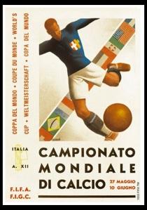 El haz de flechas simbólico del fascismo (y de la República Italiana) en el poster.