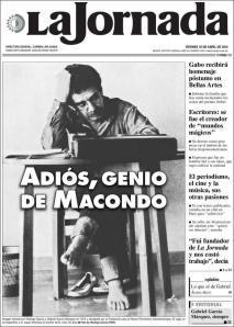 La Jornada, el diario de la izquierda mexicana. Sobrio.