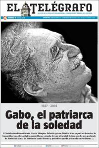 El Telègrafo, posiblemente por formato, tuvo la mejor portada de los diarios ecuatorianos.