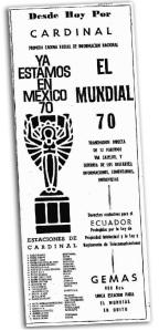La promoción de los servicios informativos de México 1970.