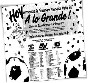 Italia 1990 y los primeros consorcios televisivos.