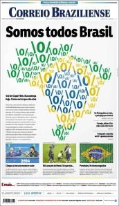 Como siempre, las mejores portadas de Brasil y América las hace Correio Braziliense. Ahí hay todo: análisis, opinión, noticia. Geniales.