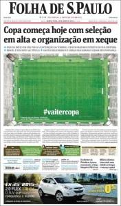 Folha buscó algo diferente, pero no expone mayor cosa que el recurso del hashtag.