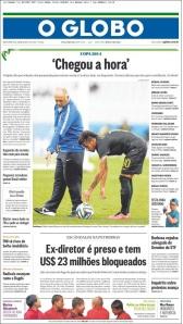 Globo, institucional y recogiendo una frase de Scolari en la conferencia de prensa del miércoles.