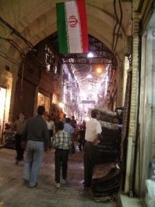 Un callejón del centro de Teherán.
